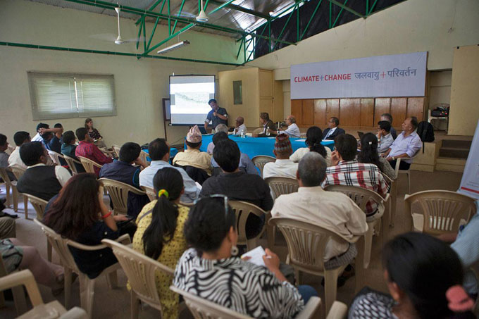 Panel discussion on 'Access routes for tourism: enhancing community development in Nepal's mountain areas.  Photo: Shikhar Bhattarai