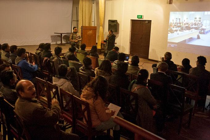 Sarad Rai sharing his insight on photo education in Nepal.Photo: Kishor K Sharma
